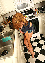 skinny redhead housewife