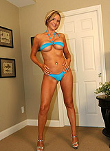 Hot Busty Blonde Wife In Tiny Bikini Gets Naked