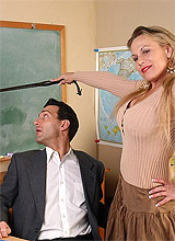 mature woman having sex with her teacher