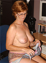 Horny redhead granny secretary
