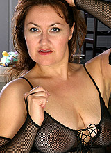 amateur mature in transparent clothes